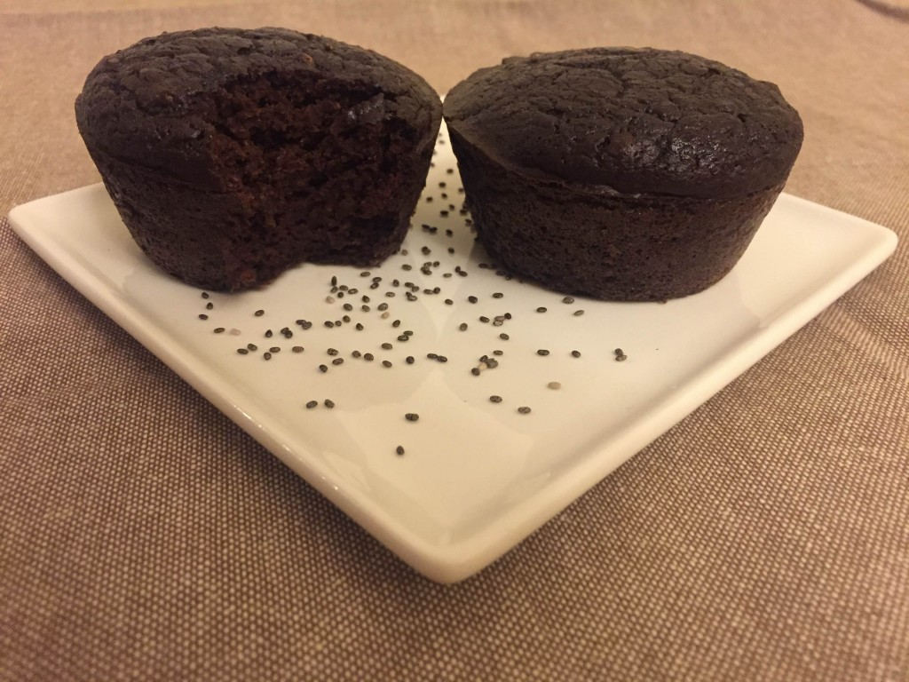 Chia Chocolate Muffin with Chickpeas